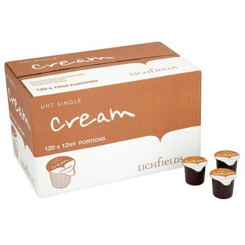 Lichfields - UHT Single Cream - 120 x 12ml - bulk portions